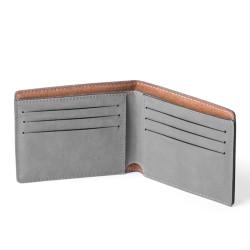 Portefeuille gris en cuire