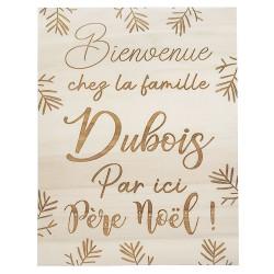 """Panneau """"Bienvenue Père Noël"""""""