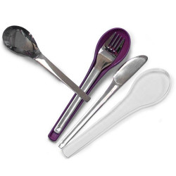 Set de 3 couverts en inox...