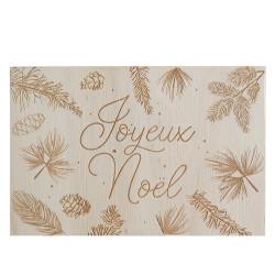 Carte en bois - Joyeux Noël