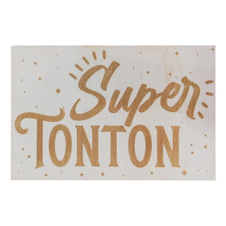 Carte en bois - Super Tonton