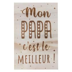 Carte en bois - Mon papa...
