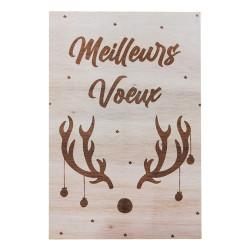 Carte en bois - Meilleurs vœux