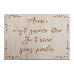 Carte en bois - Aimer c'est...
