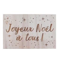Carte en bois - Joyeux Noël...