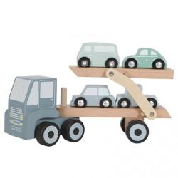 Camion transporteur en bois...