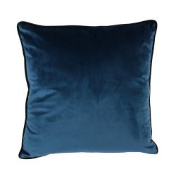 Coussin en velours bleu