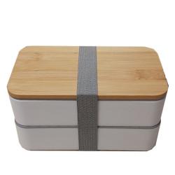 Lunch box en bambou blanche