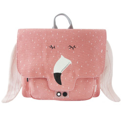 Cartable enfant flamant rose