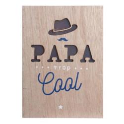 Cadre en bois LED - Papa...