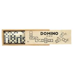 Jeu de domino avec boîte en...
