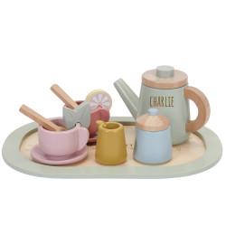 Service à thé en bois...