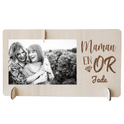 Cadre photo en bois - Maman...