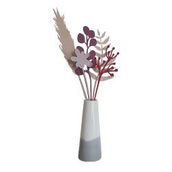 Bouquet 5 fleurs en bois