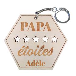 Porte-clés - Papa 5 étoiles