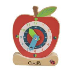 Horloge en bois - Pomme