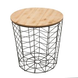 Table filaire avec plateau