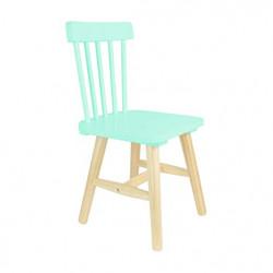 Chaise bois enfant verte