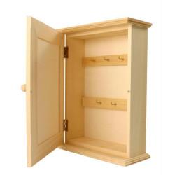 Boite à clés rectangle en bois