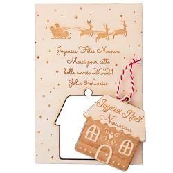 Carte suspension de Noël -...