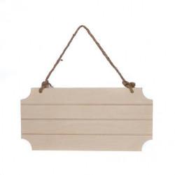 Plaque en bois à suspendre