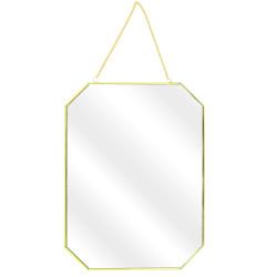 Miroir hexagonal doré