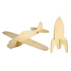 Fusée et avion