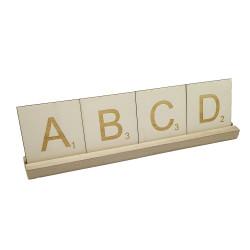 Support pour lettres en bois