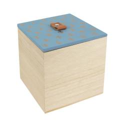 Boîte carrée gravée