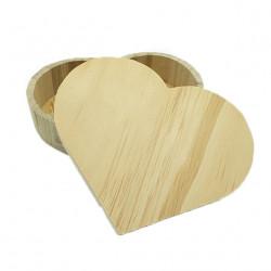 Boîte en bois coeur