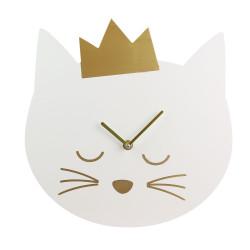 Horloge en forme de chat