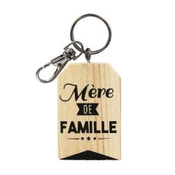 Porte-clef bois message
