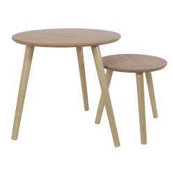 Tables gigognes rondes en bois