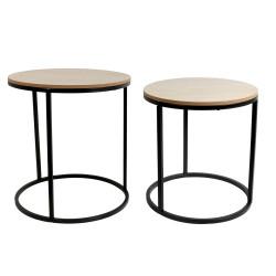 Tables gigognes bois et métal