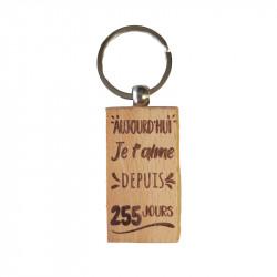 Porte-clés Aujourd'hui je...