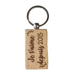 Porte-clés Je t'aime depuis