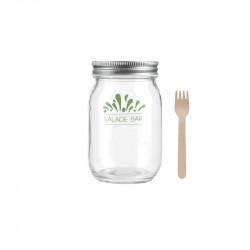 Bocal à salade en verre