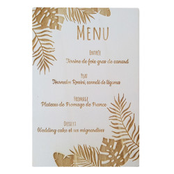 Menu tropical