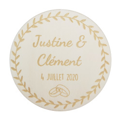 Magnet rond couronne