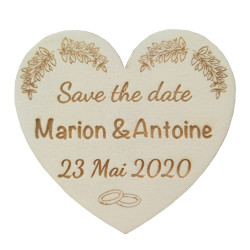Magnet Save the date coeur