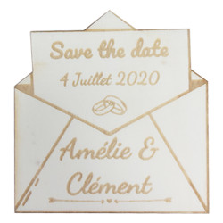 Magnet Save the date enveloppe