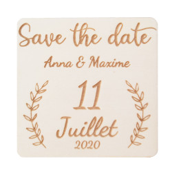 Magnet Save the date feuilles