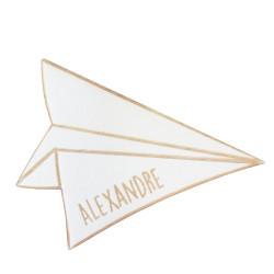 Marque place avion en papier