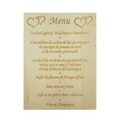 Menu ou carte invitation en...