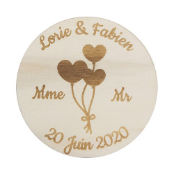 Badge rond ballon coeur