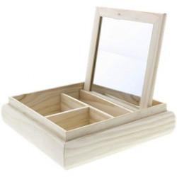 Boîte décorative avec miroir