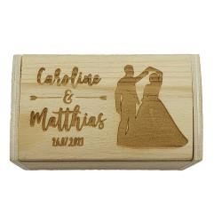 Boîte à dragées mariés