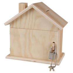 Tirelire maison en bois