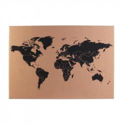 Tableau carte du monde en...