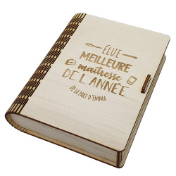 Livre boîte en bois maîtresse